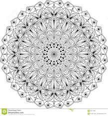 circle mandala coloring page stock vector image 90217699