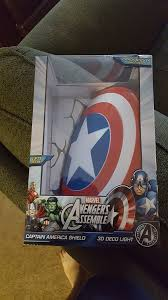 captain america shield light target 3dlightfx review by vic pena marvel 3d wall nightlight captain