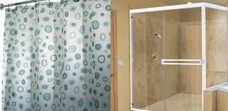 Shower Curtain Vs Shower Door Bathroom Remodeling Ideas San Diego Bath Wraps