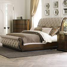 King And Queen Wall Decor Bedroom Tufted Leather Sleigh Bed Plywood Wall Decor Piano Lamps