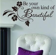 amazon com picniva be your own kind of beautiful decals flower amazon com picniva be your own kind of beautiful decals flower vine wall sticker 11 x 22 black home improvement