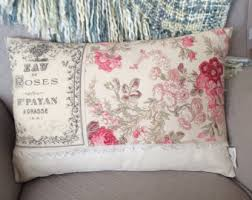 rose pillow etsy