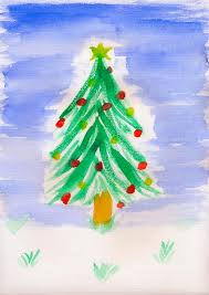 childrens painting tree stock image image of children