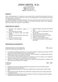 Resume For Technical Jobs by Industrial Job Resume