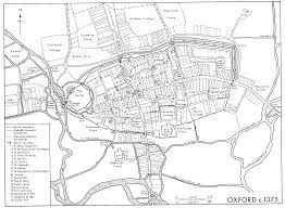 Oxford England Map by Medieval Oxford British History Online