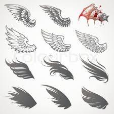 simple angel wings tattoo idea human art pinterest angel intended