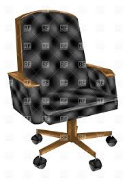 Office Chair Black Leather Retro Leather Office Chair Vector Image 27739 U2013 Rfclipart