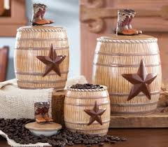 western kitchen canister sets western kitchen canister set from collections etc for my