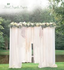 wedding backdrop diy diy floral pergola project