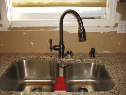 Bronze Kitchen Faucet Oil Rubbed Bronze Kitchen Faucet With Stainless Sink Cliff Kitchen