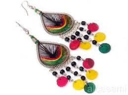 reggae earrings lot 3 rasta reggae jamaican earring handmade peruvian jewelry