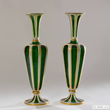 Italian Glass Vases Pair Of Antique Italian Glass Vases Manhattan Art And Antiques