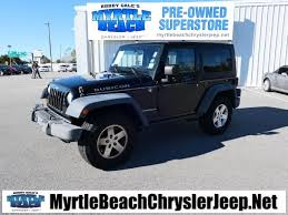 jeep wrangler rubicon 2008 pre owned 2008 jeep wrangler rubicon 2d sport utility in myrtle
