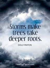 positive quote storms make trees take deeper roots u2013 dolly parton