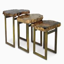 Natural Wood End Tables Tall Round End Table Table Designs