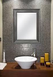 Hanging Bathroom Mirror by Large Bathroom Mirror For Wall Beveled Frame Pewter Decor Mount