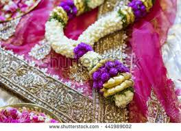 indian wedding flower garland flower indian wedding garland stock photo 441989002