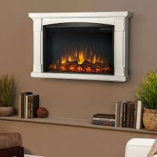 curved wall mount electric fireplace chimney free costco black