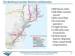 new england central railroad map 1 amtrak northeast corridor vision for high speed rail proprietary