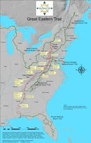 Map Eastern United States by The Great Eastern Trail U2013 A Prologue Shepherd On The Trail