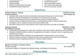 Sample Resume For Experienced Embedded Engineer Sample Resume Of Software Engineer Software Developer Free Resume