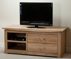Oak Tv Cabinets With Glass Doors New Oak Large Tv Unit With Glass Doors Solid Oak Furniture