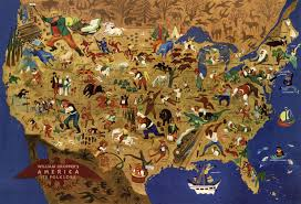 World Map Puzzles by William Gropper U0027s American Folklore Wooden Jigsaw Puzzle