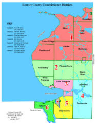 Michigan Counties Map Meet The Commissioners Emmet County