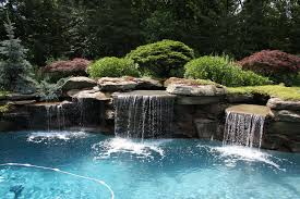 rock waterfalls for pools charming pool waterfalls pools for home