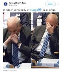 Hands On Face Meme - john kelly photographed with his head in hands during trump speech