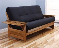 Furniture Magnificent Leather Fold Out Couch Nice Futon Couches