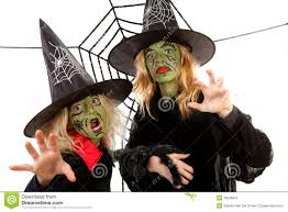 scary green witches for halloween stock photography image 16646872
