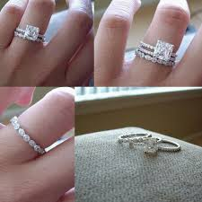 three ring wedding set promise engagement marriage such a idea to keep all three