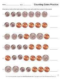 free printable coin worksheets worksheets