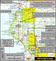 Lake Superior Map Therucksack Wilderness Trip Page