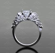 white gold princess cut engagement ring sapphire studios venice 1 30ct princess cut white gold skull