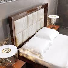 Contemporary Bedroom Furniture Sets Carmen Walnut Queen Size Bed Carmen Esf Furniture Modern Bedrooms