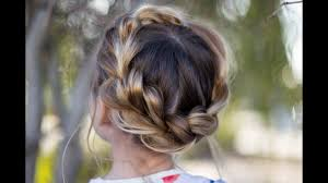 updos cute girls hairstyles youtube pull thru crown braid updo cute girls hairstyles youtube for