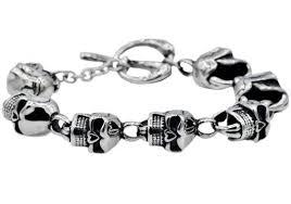 mens skull bracelet images Mens stainless steel skull bracelet blackjack jewelry jpg