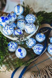 how to make unique blue white chinoiserie ornaments tutorial