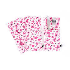 ustensiles de cuisine ricardo pochettes à ustensiles à motif floral boutique ricardo