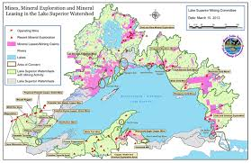 canadian map with great lakes great lakes mining
