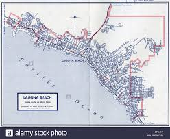 Irvine Map Old Map Of Laguna Beach Stock Photo Royalty Free Image 31045653