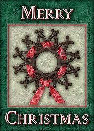 horseshoe wreath horseshoe wreath card www hoofprints