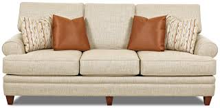 Klaussner Furniture Quality Transitional Sofa With Low Profile Rolled Arms By Klaussner Wolf