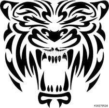 tiger tribal predators stock image and royalty free vector files