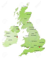 Map Of Ireland And England by Map Of United Kingdom And Ireland Stock Photo Picture And