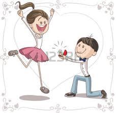vidã os de mariage de mariés dessin proposition de mariage vecteur de bande
