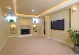 a nice tray ceiling with low voltage lighting around the perimeter