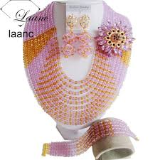 laanc 10 rows 6mm gift for women african beads jewelry set